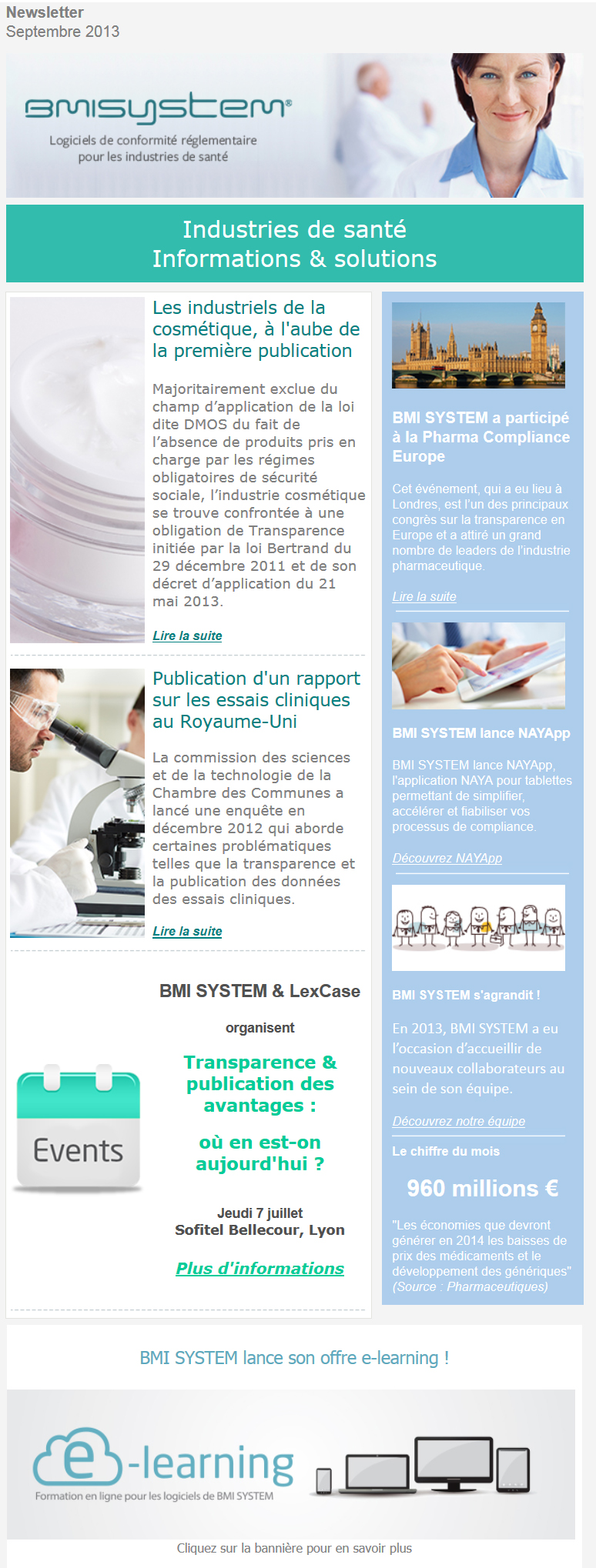 Newsletter septembre 2013 FR