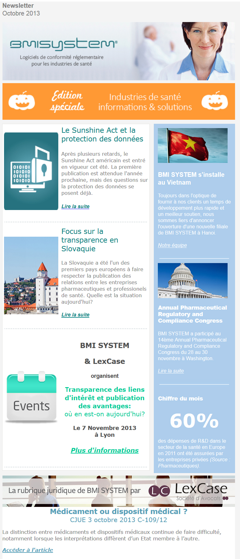 Newsletter octobre 2013