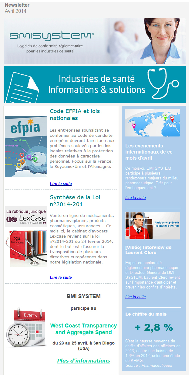 Newsletter d'avril BMI SYSTEM FR