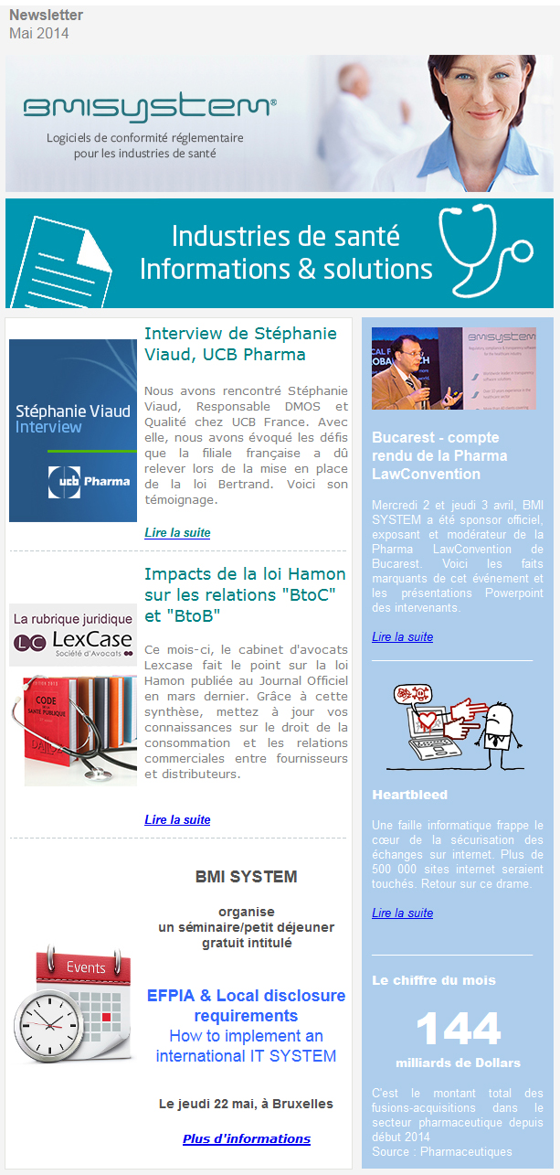 Newsletter FR Mai 2014