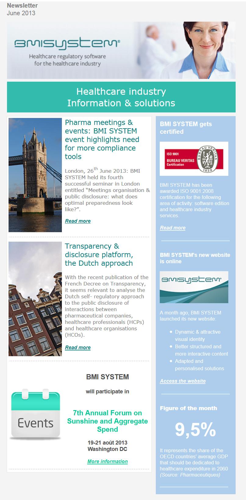 Newsletter juin 2013