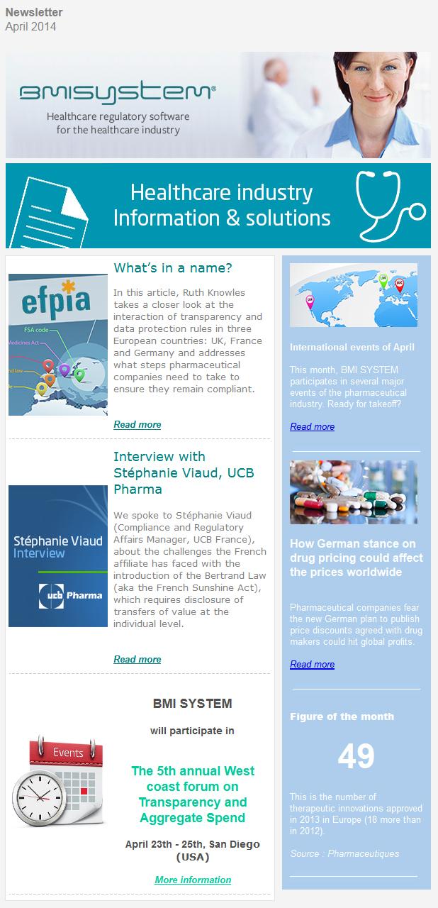 Newsletter BMI SYSTEM april 2014