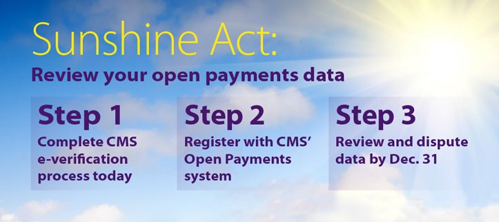 Sunshine Act - review your open payments data