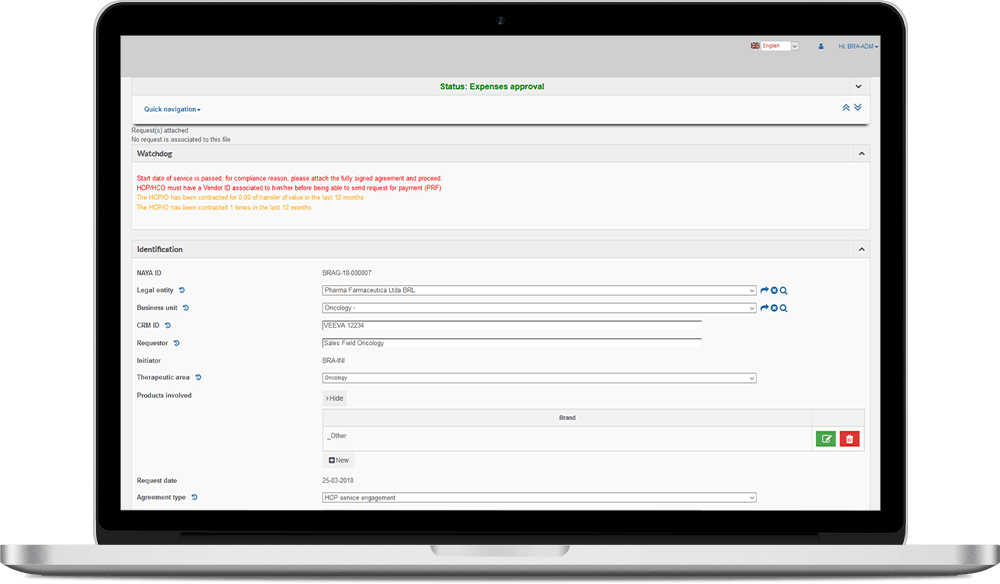 screenshot of ou transparency & disclosure solution