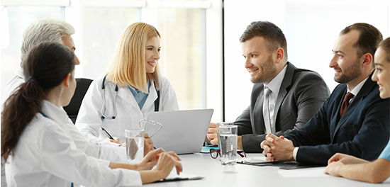 A meeting with Healthcare Professionals