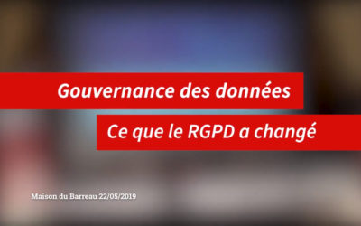 1 an après le RGPD : retrouvez l'intervention de nos experts